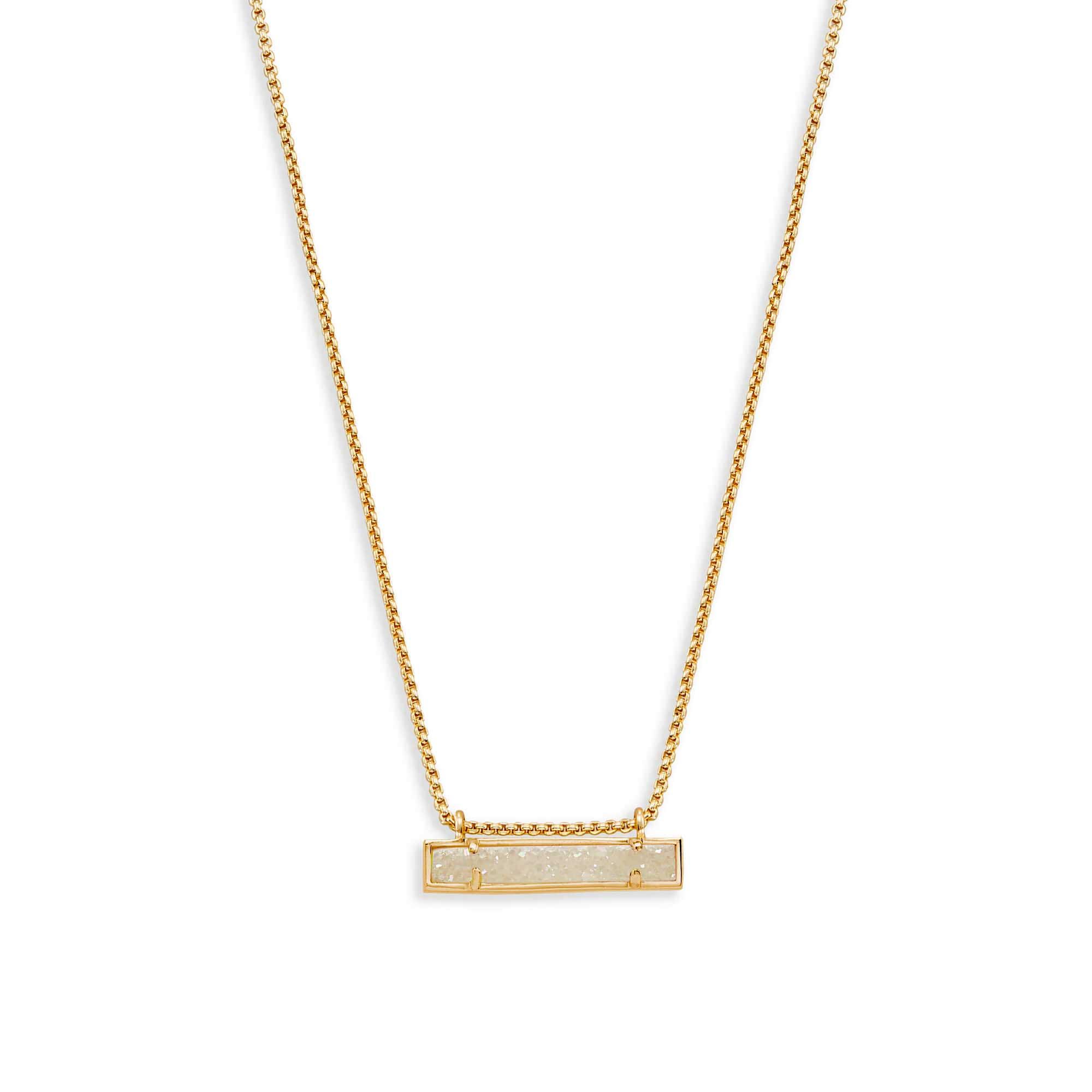 Kendra Scott Leanor Bar Pendant Necklace In Iridescent