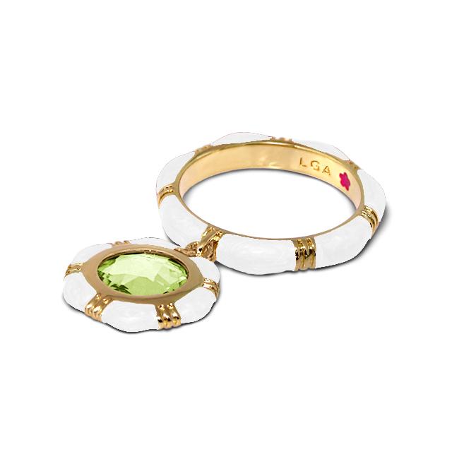 Lauren Adams Stackable Enamel Rings