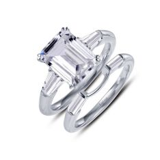 40fc4b633 Lafonn Classic Platinum-Plated Simulated Diamond Ring (3.12 CTTW)