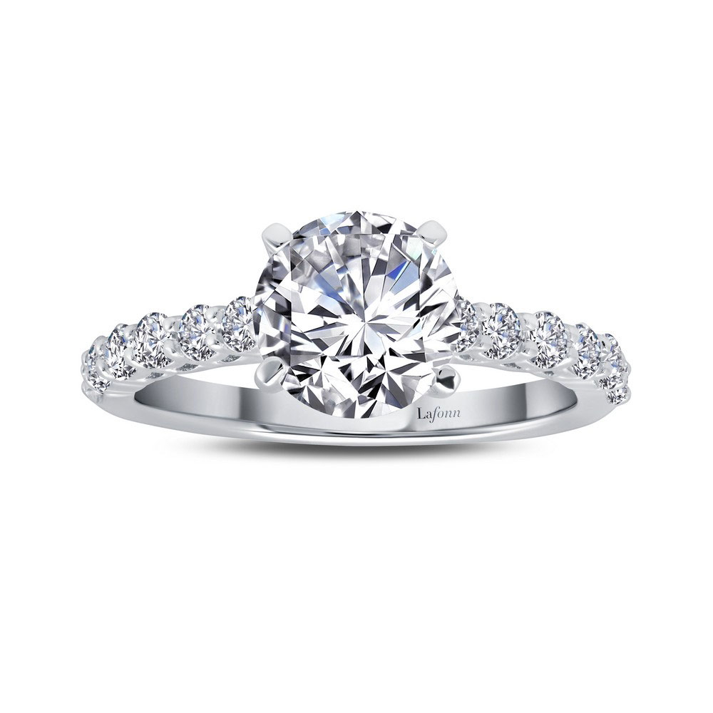 Lafonn Classic Platinum Plated Simulated Diamond Ring 2 52 Cttw Precious Accents Ltd