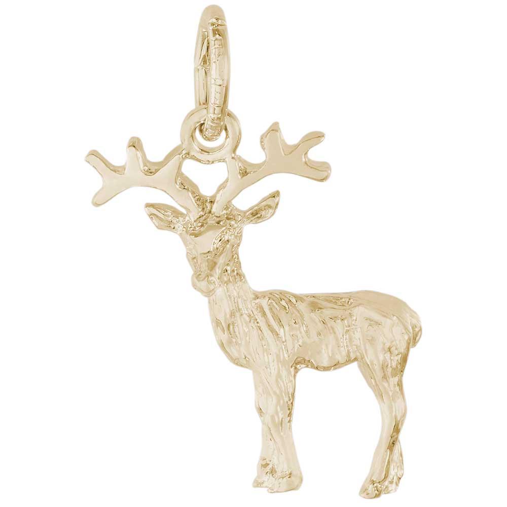 Rembrandt Deer: Reindeer Charm, 10K Yellow Gold: Precious ... Reindeer 10k Stourhead