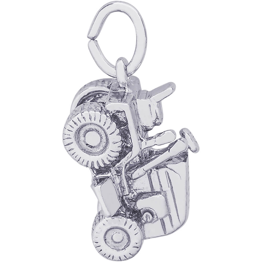 Rembrandt Riding Lawn Mower Charm Sterling Silver