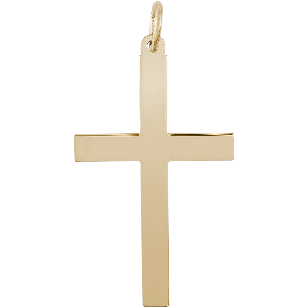 Rembrandt cross charm gold plated silver precious accents ltd