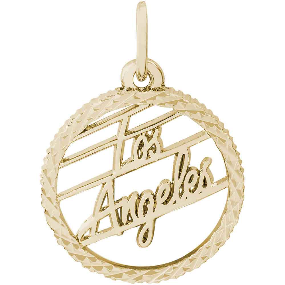 Pandora Jewelry Los Angeles: Rembrandt Los Angeles Charm, Gold Plated Silver: Precious