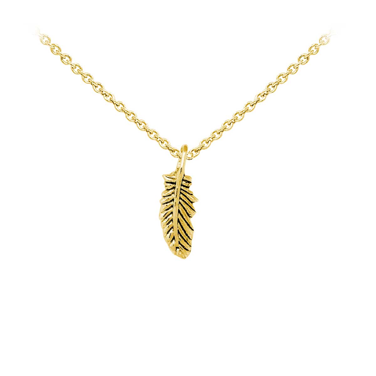 Wind & Fire Feather Dainty Necklace: Precious Accents, Ltd.