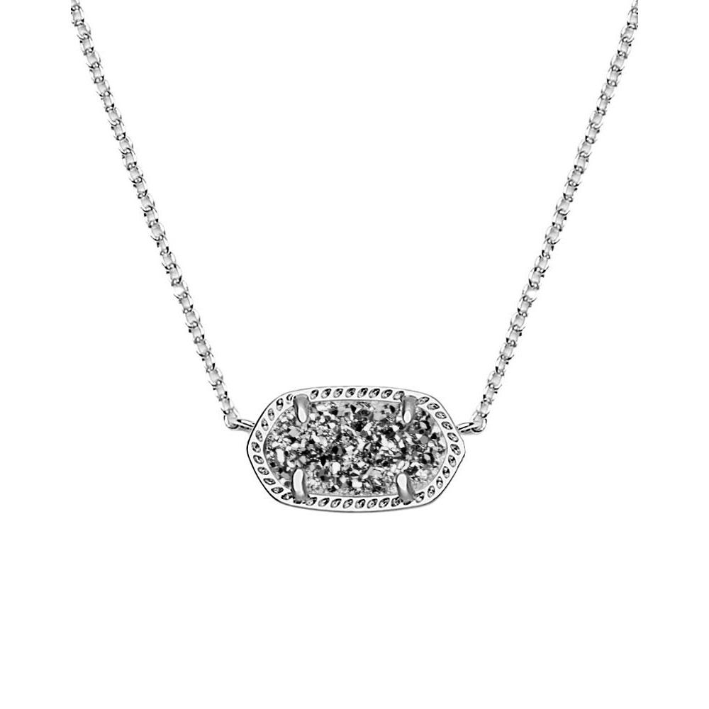 Kendra Scott Elisa Silver Pendant Necklace In Platinum