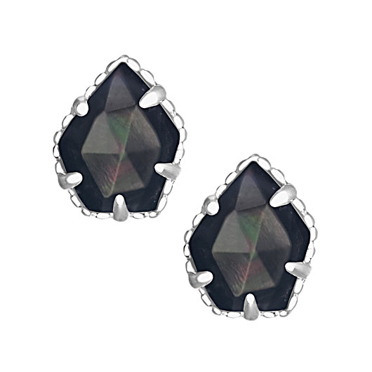 2cd02e8fd Kendra Scott Tessa Silver Stud Earrings in Black Pearl: Precious ...