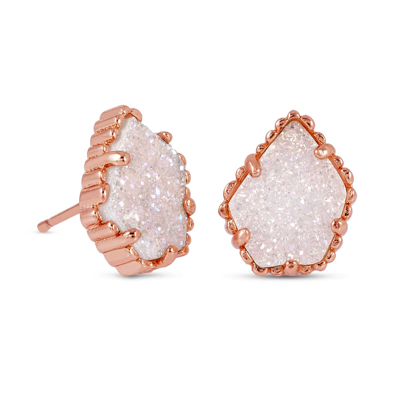 75d7b5386 Kendra Scott Tessa Rose Gold Stud Earrings in Iridescent Drusy: Precious  Accents, Ltd.
