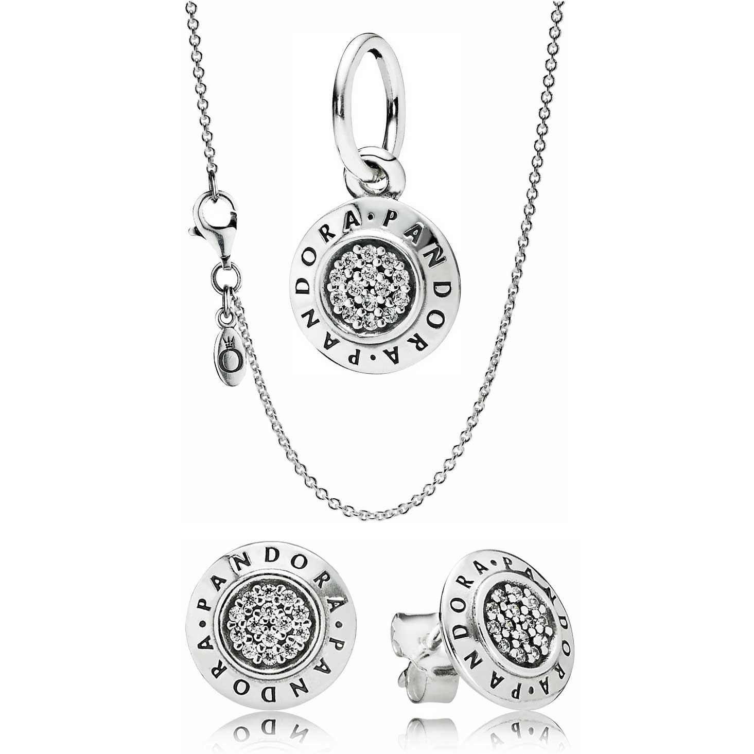 ad321710439f0 hot pandora necklace and earring sets for women 73f49 41968