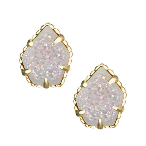 eaf86bd7d Kendra Scott Tessa Gold Stud Earrings in Iridescent Drusy: Precious ...